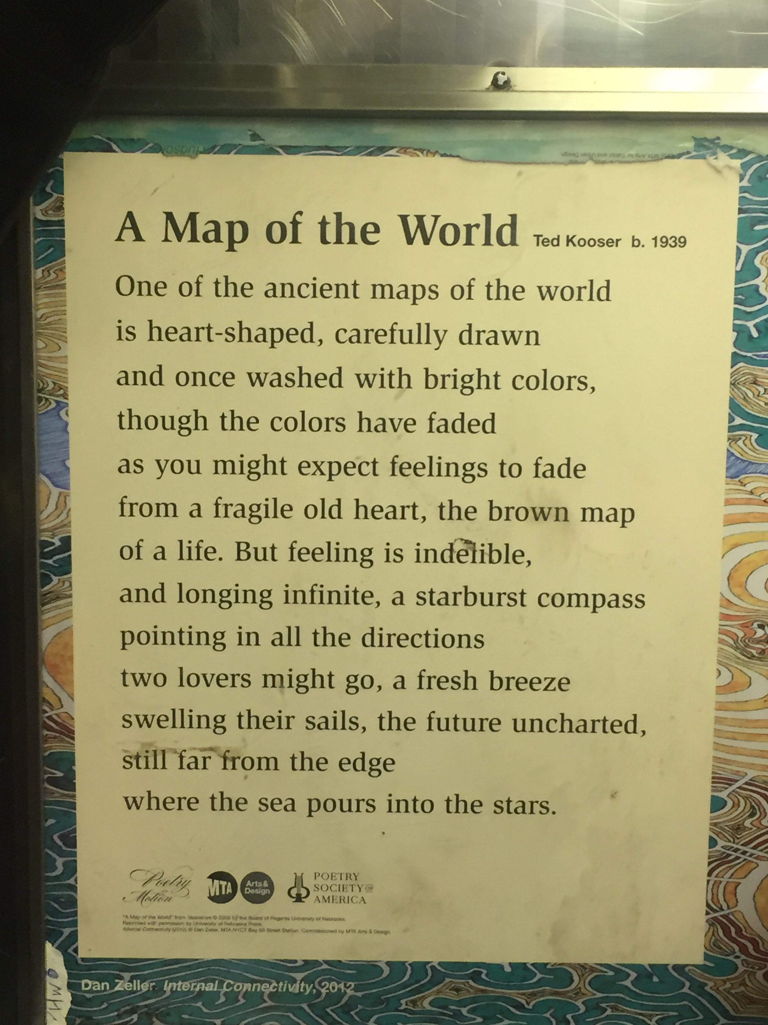 Poetry in Motion A Map of the World by Ted Kooser  Poems