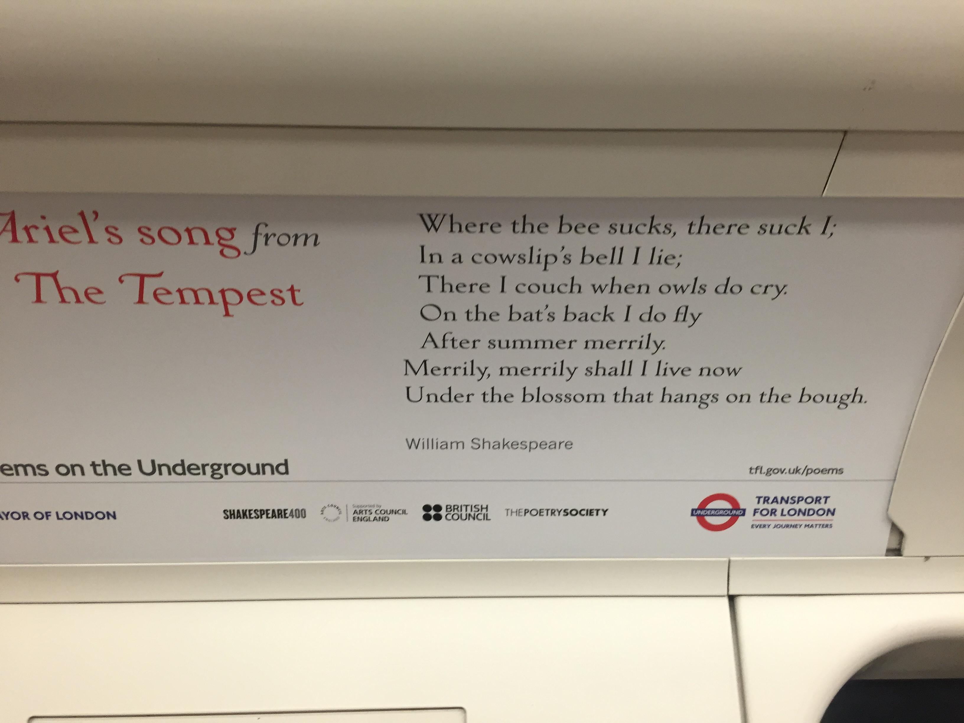 LondonUndergroundPoem