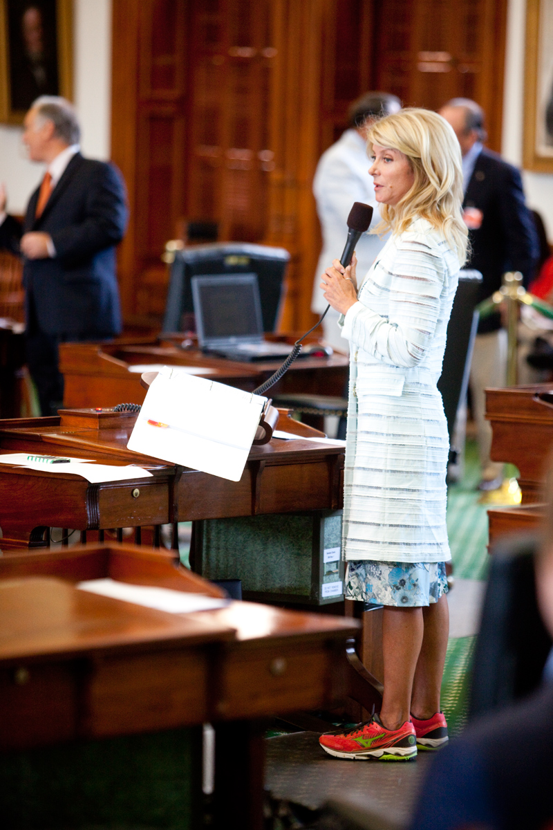 Wendy Davis during her famous filibuster