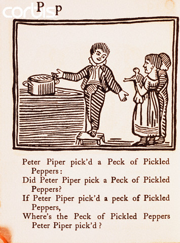 """Peter Piper"" From Peter Piper's Practical Principles of Plain & Perfect Pronunciation"