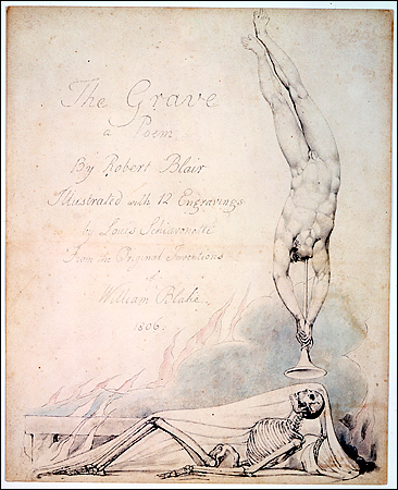 "One of William Blake's watercolour illustrations for Robert Blair's poem ""The Grave"", 1805"